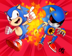 vs metal sonic by theziminvader