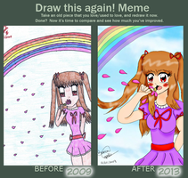 Draw this again! Meme by HikariBibii