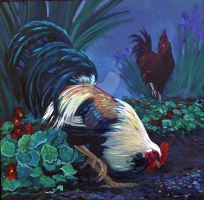 Rooster 2 Middle by HouseofChabrier