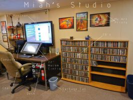 Miah's Studio 1 of 6 by JeremiahLambertArt