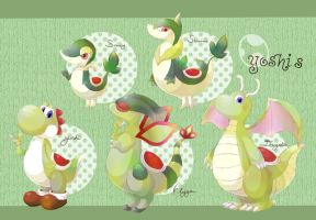 Yoshi Collection! Yoshi x Pokemon by Monoli-hakusi
