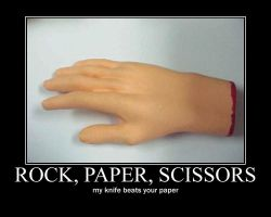 Rock, paper, scissors by Grahammainwood