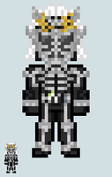 Chibi Rider sprite - Fifteen (Fifteen Arms) by Malunis