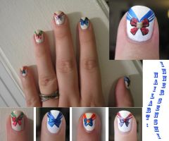 Sailor Moon Nail Art: part 1 by IndigoVelvet