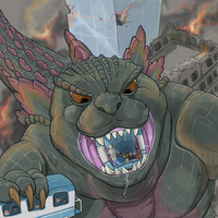 Ride Godzilla railways by Greedywoozle