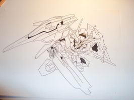 SD Gundam 00 raiser by supercli