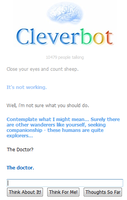 Cleverbot is a whovian by vulcangirl14
