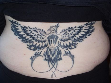 Phoenix - tattoo finished by mnementh2000