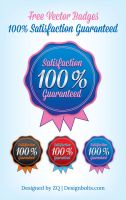 Free Vector Badge Satisfaction Guaranteed by Designbolts