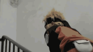 Naruto attacking pigeon Funny GIF by TessaCrownster