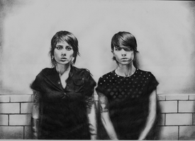 Tegan and Sara by Daedhalus