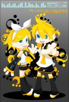 Rin and Len Kagamine by xenoberry
