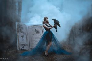 Magic book about Raven by Isa-Wyrd