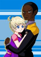 Kes and Tuvok by Glee-chan