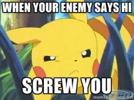 Pikachu screw you by Megeeky