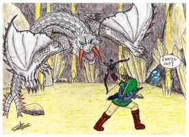 Link VS Barioth by raptorthekiller