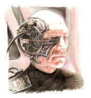 Locutus picard.colour by Bitterkawaii
