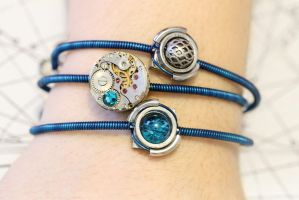 Cybersteam Aqua bracelets by CatherinetteRings