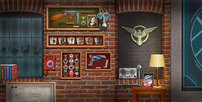 Marvel Agents of SHIELD Coulson's office by Dom-Graphcom