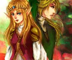 Zelda and Link -SSBB- by AStudyInScarlet