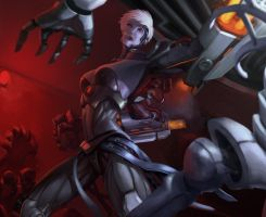 Cyber VI skin splash art by AM1BA