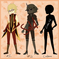 Adopts set 1- 3/4 open by MooniesLove