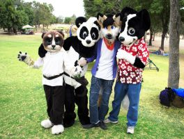 Fursuiting in Parque Metropolitano by pandapaco