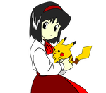 Pokemon Adventures Render - Erika and Pikachu by Sophie-bear