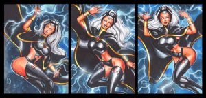 STORM PERSONAL SKETCH CARDS by AHochrein2010