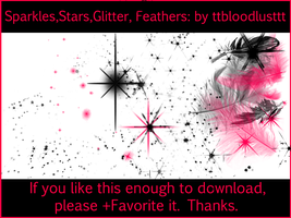 FeathersGlitterSparklesStars by ttbloodlusttt