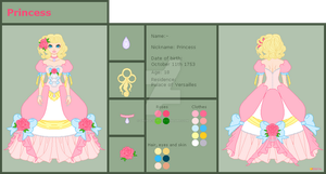 Chara Sheet: Princess by orenji-seira