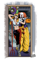 Harley Quinn and Pennywise - Halloween by gregbo