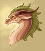 Foresty Dragon Head Thing by Pseudolonewolf