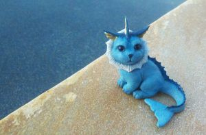 Vaporeon Sculpture by IllusionTree