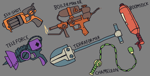 Mashini Devata: Weapons by brotoad