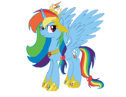 Princess Rainbow Dash by horsefan999