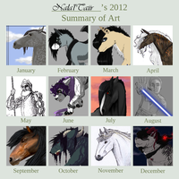 Summary of Art - 2012 by Nala-l-Taiir