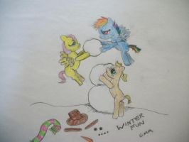 Bronies Babies Contest Entry Winter Fun by grandmoonma