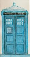 TARDIS : Watercolor by Estel
