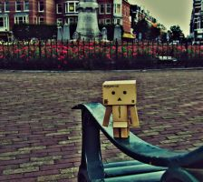 Danbo in the city by marjol3in1977