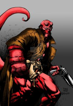Finch Hellboy Colors by LarsonJamesART
