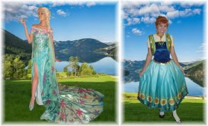 Elsa + Anna Frozen Fever Cosplay by SetsunaKou