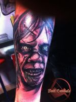Exorcist tattoo by dottcrudele
