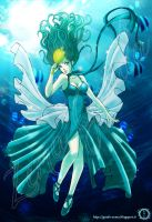 Sailor Neptune in the sea by hisui1986