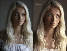 Before and After : Snow 2 retouch by HayleyGuinevere