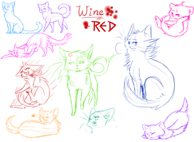 -Wine Red- sketches by xKiwiwolf