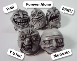 Internet Meme Keychains by montoy