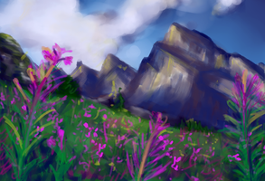 Mountain Landscape by DreampunkGeek