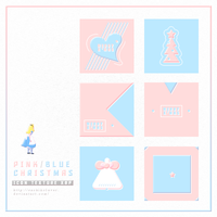 ICON TEXTURE - Pink Blue Christmas x6p by sachikoluver