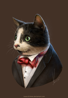 Cat in a Tux by IsaacJLitman